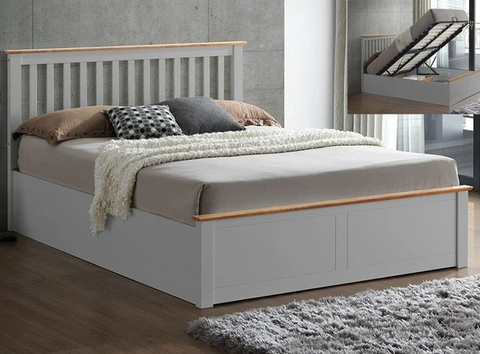 Wooden Double Ottoman Bed