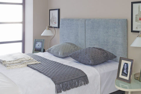 Swanglen Cairo Headboard In Shetland Navy Fabric-Better Bed Company
