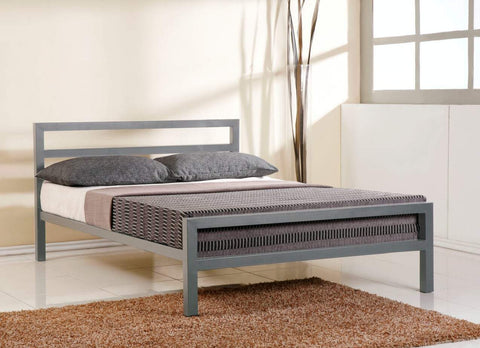 Time Living City Block Grey Metal Bed Frame-Better Bed Company