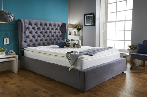 Double Grey Bed