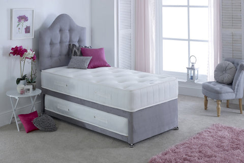 Guest bed with a memory foam mattress