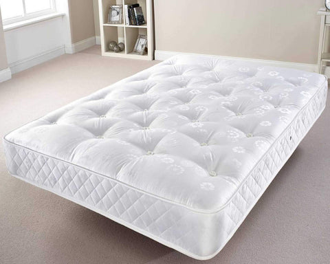 Double mattress with orthopedic spring system