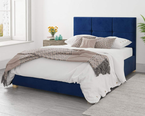 Navy Blue Ottoman Bed