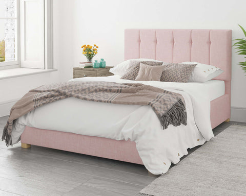 Pink Bed With A Double Mattress