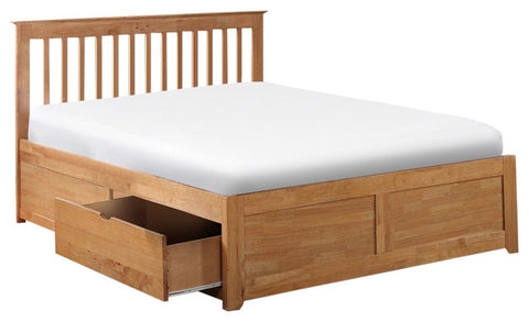Oak 4ft6 Double Bed Base