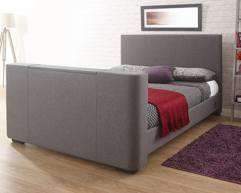 Single memory foam mattress with a tv bed