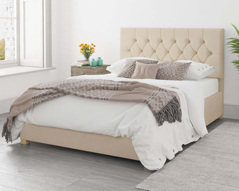 Cream King Size Ottoman Bed Frame