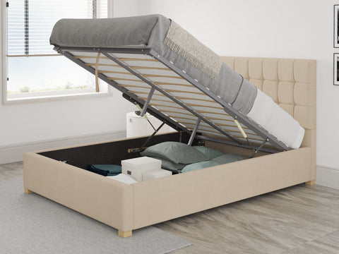 Double Fabric Ottoman Bed-Better Bed Company