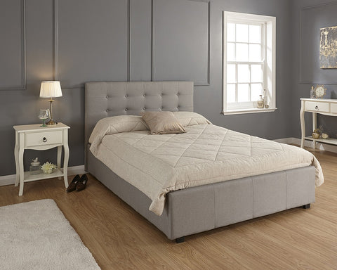 Memory Foam Mattress With A Grey Bed Frame