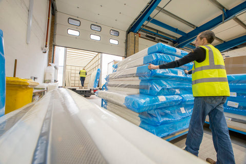 Sleepshaper Delivery Van With Mattresses At The Warehouse-Better Bed Compay