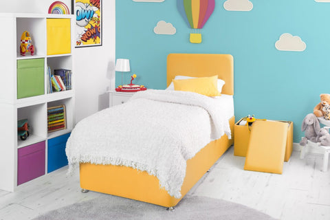 Swanglen Yellow Fabric Bed-Better Bed Company