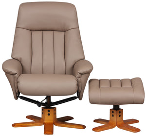 GFA St Tropez Recliner And Foot Stool-Recliners-GFA-Earth Plush-Better Bed Company
