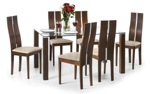 Julian Bowen Cayman Dining Set 6 Chairs-Better Bed Company