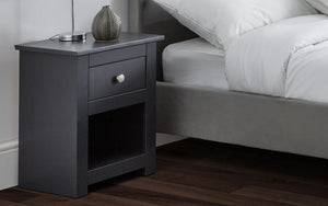 Julian Bowen Radley Bedside Table Anthracite-Better Bed Company