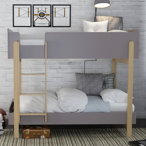LPD Furniture Hero Bunk Bed-LPD Furniture-Grey-Better Bed Company