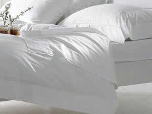 Bellissimo 400 TC Cotton Duvet Cover Sets White-Harwood Textiles-Single-Better Bed Company