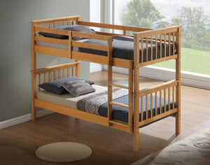 Artisan Bed Company New Bunk Bed-Bunk Beds-Artisan Bed Company-Beech-No Draws-No Mattress-Better Bed Company