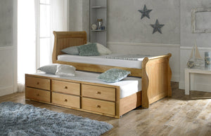 Artisan Bed Company Captain Bed In Oak Under Bed View-Better Bed Company