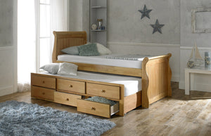 Artisan Bed Company Captain Bed In Oak-Better Bed Company