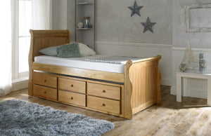 Artisan Bed Company Captain Bed-Artisan Bed Company-Oak-No Mattress-Better Bed Company