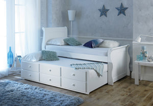 Artisan Bed Company Captain Bed In White-Better Bed Company