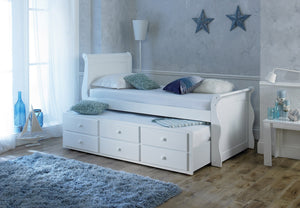 Artisan Bed Company Captain Bed In White Under Bed On Show-Better Bed Company