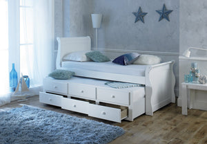 Artisan Bed Company Captain Bed In White Draws And Under Bed View-Better Bed Company