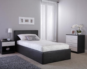 GFW Side Lift Ottoman Bed In Black-Better Bed Company