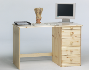 Steens Kent 4 + 1 Drawer Desk Pine-Better Bed Company