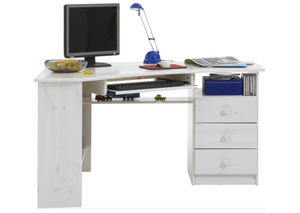 Steens Kent Corner Desk White Wash-Better Bed Company