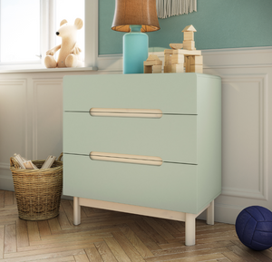 Steens Oniria 3 Drawer Chest Green-Better Bed Company