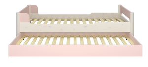 Steens Oniria Underbed Drawer Pink And Whitewash With A Bed-Better Bed Company