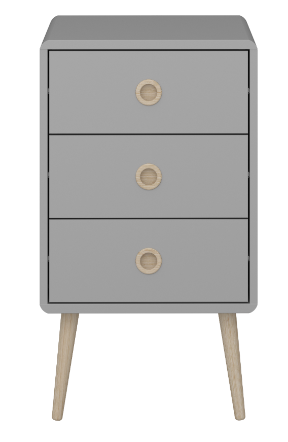 Steens Soft Line 3 Drawer Chest Grey