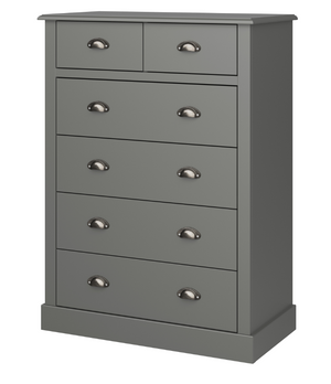 Steens Sandringham  2+4 Chest Grey Side View-Better Bed Company