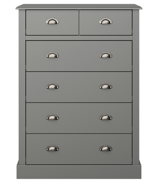 Steens Sandringham  2+4 Chest Grey-Better Bed Company