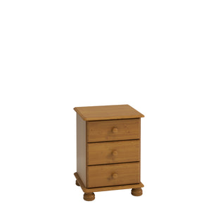Steens Richmond Pine 3 Draw Bed Side Table-Better Bed Company