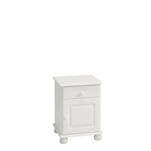 Steens Richmond 1 Door 1 Draw White Bed Side Table-Bed Side Tables-Better Bed Company