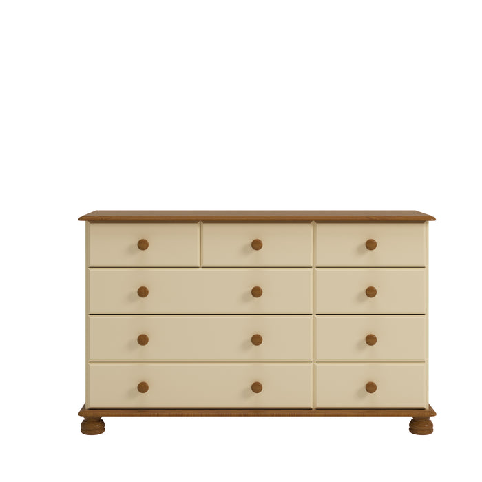 Steens Richmond Cream And Pine 2 + 3 + 4 Chest Of Draws