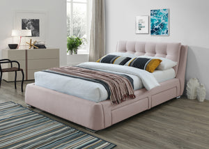 Artisan Bed Company Fabric 4 Side Draws Bed-Fabric Beds-Artisan Bed Company-Double-Pink-Better Bed Company