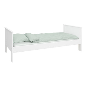 Steens Alba White Single Bed-Better Bed Company