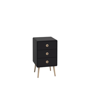 Steens Soft Line Black 3 Drawer Chest-Bed Side Tables-Better Bed Company