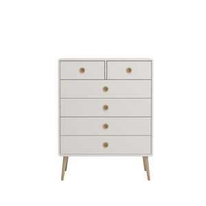 Steens Soft Line White 2 + 4 Chest-Chest Of Drawers-Better Bed Company