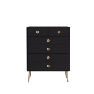 Steens Soft Line Black 2 + 4 Chest-Chest Of Drawers-Steens-Better Bed Company