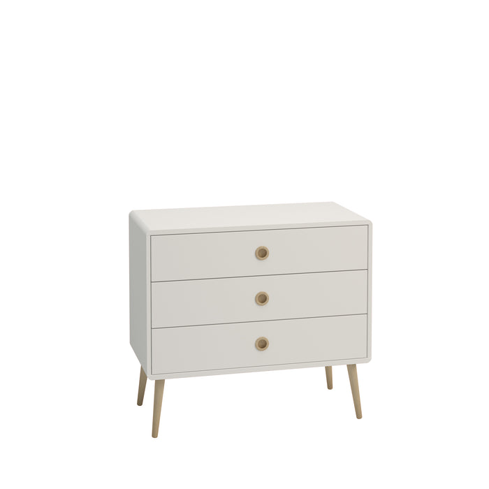 Steens Soft Line White 3 Drawer Wide Chest