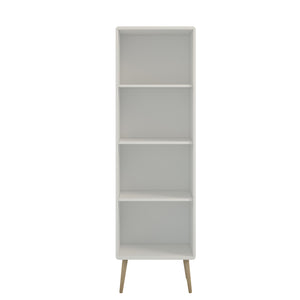 Steens Softline Living White Narrow Bookcase-Better Bed Company
