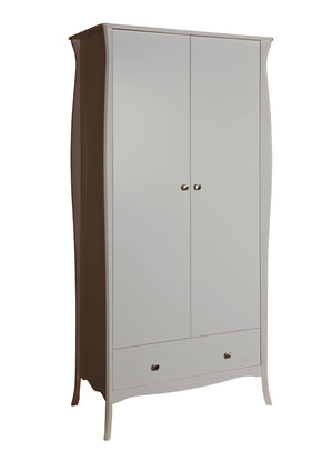 Steens Baroque Grey 2 Door 1 Draw Wardrobe