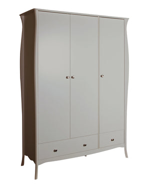 Steens Baroque Grey 3 Door 2 Draw Wardrobe-Better Bed Company