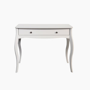 Steens Baroque White 1 draw Vanity nightstand-Better Bed Company