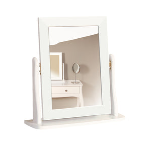 Steens Baroque White Stool and Mirror-Better Bed Company