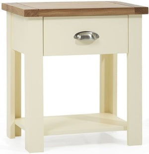 Martin Harris Furniture Sandringham Oak And Cream Nightstand-Better Bed Company